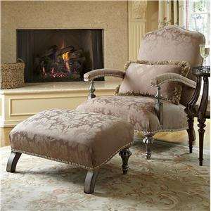 Library Chair and Ottoman Set