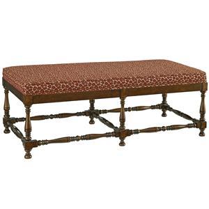 Turned Leg Ottoman Bench