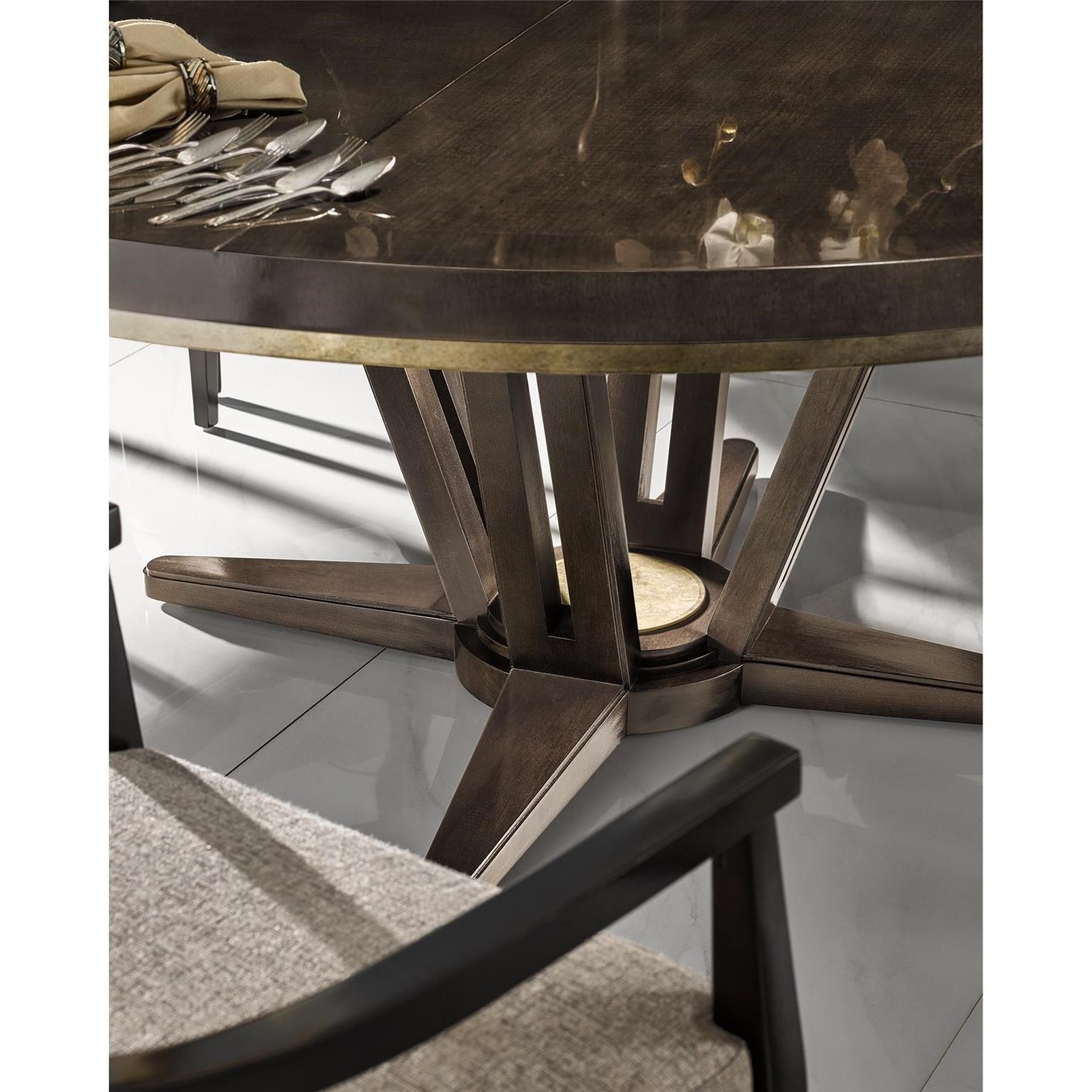 Upscale Dining Room Furniture: Fine Furniture Design Deco 9 Piece Dining Set With Round