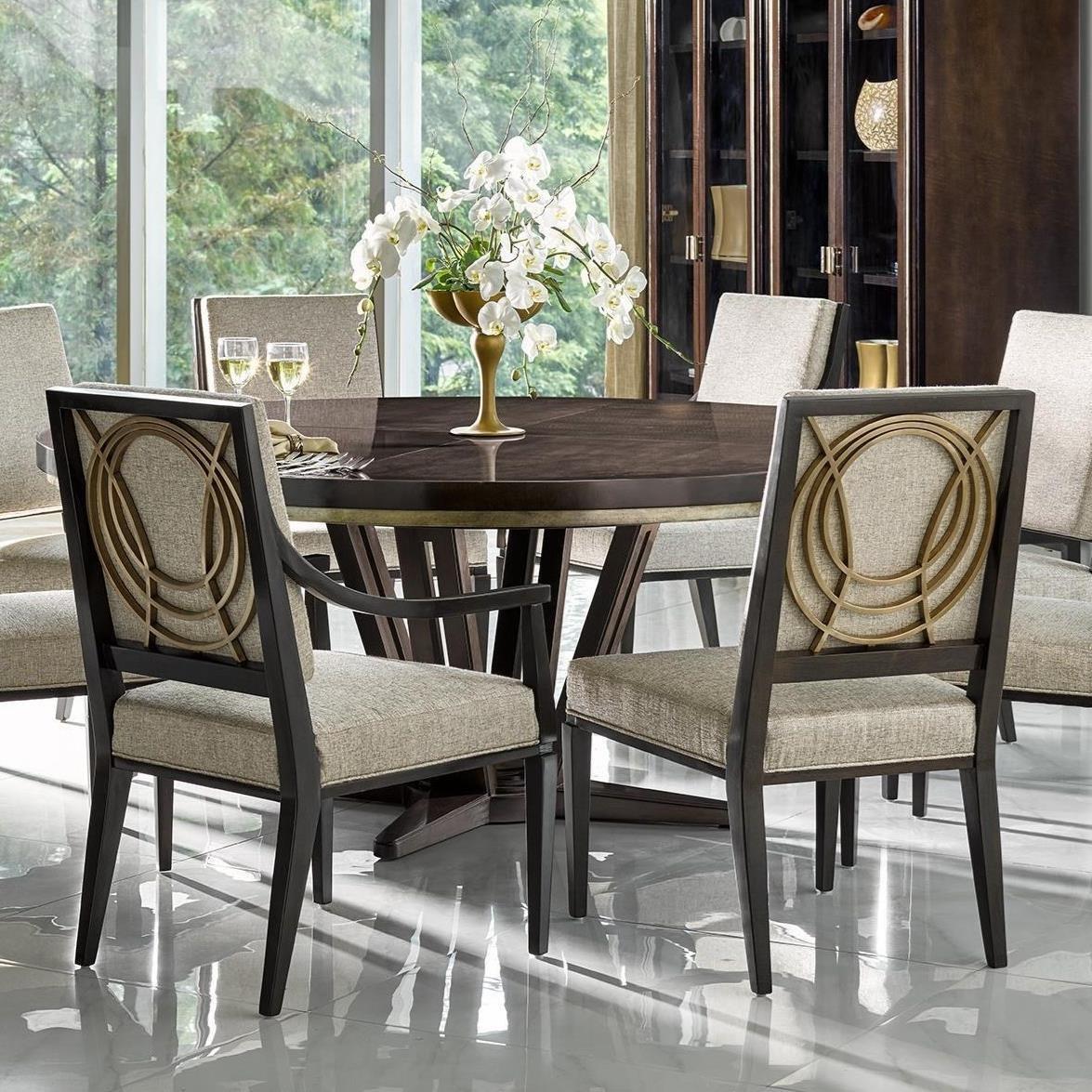 """Fine Furniture Design Deco Le Cercle 72"""" Round Single"""