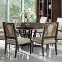 "Fine Furniture Design Deco Le Cercle 72"" Round Dining Table - Item Number: 1680-810+812"
