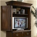 Fine Furniture Design Hyde Park Traditional 2 Drawer Armoiret - Detailed View of Media Storage Possibilities
