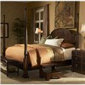 Fine Furniture Design Hyde Park Queen Traditional Poster Bed - Shown with Demilune Bachelor\'s Chest, Bed Bench and Bed Steps