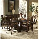 Fine Furniture Design Hyde Park 7 Piece Dining Table and Chairs Set - Item Number: 1110-810+811+4x826L+2x827L