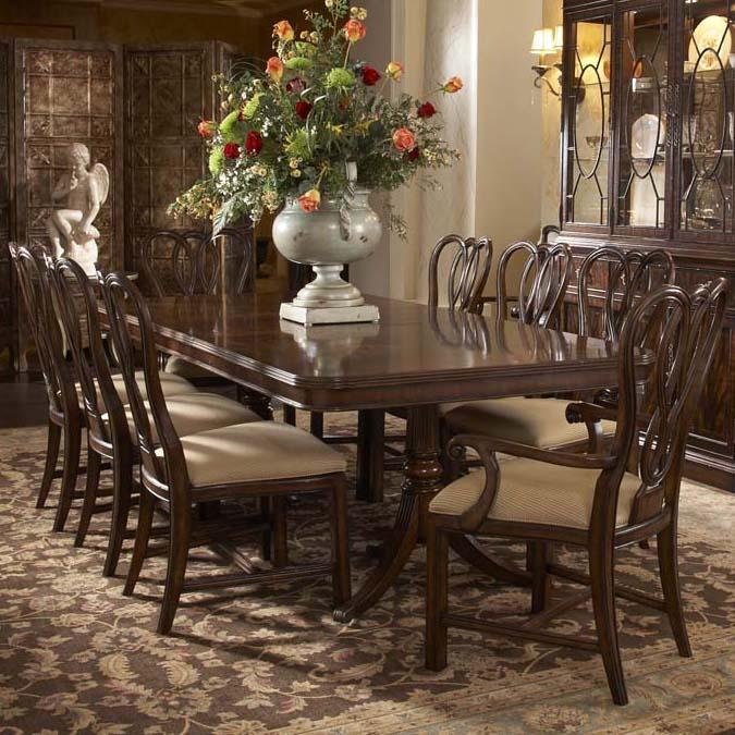 Belfort Signature Vienna 9 Piece Table and Chair Set - Item Number: 1110-818+819+6x820F+2x821F