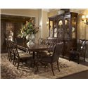 Fine Furniture Design Hyde Park 9 Piece Table and Chair Set - Item Number: 1110-818+819+6x820F+2x825