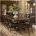 Fine Furniture Design Hyde Park 11 Piece Dining Table and Chair Set - Item Number: 1110-818+819+8x826L+2x825