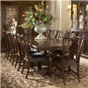 Fine Furniture Design Hyde Park 11 Piece Dining Table and Chair Set - Item Number: 1110-818+819+8x826L+2x827L