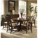 Belfort Signature Vienna Ribbon-Back Dining Arm Chair - Shown with Round Dining Table, Ribbon-Back Side Chair, and Breakfront China Buffet