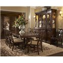 Belfort Signature Vienna Ribbon-Back Dining Arm Chair - Shown with Double Pedestal Dining Table, Ribbon-Back Dining Side Chair, and Breakfront China Buffet with Deck