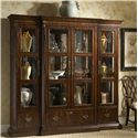 Fine Furniture Design Hyde Park Traditional Curio China Cabinet  - Shown with Left and Right China Piers