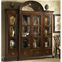Fine Furniture Design Hyde Park Traditional Curio China Cabinet  - Shown with Left and Right China Piers and Curio Crown Top