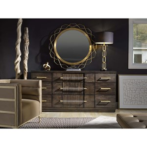 Minutial Dresser and Mirror Set