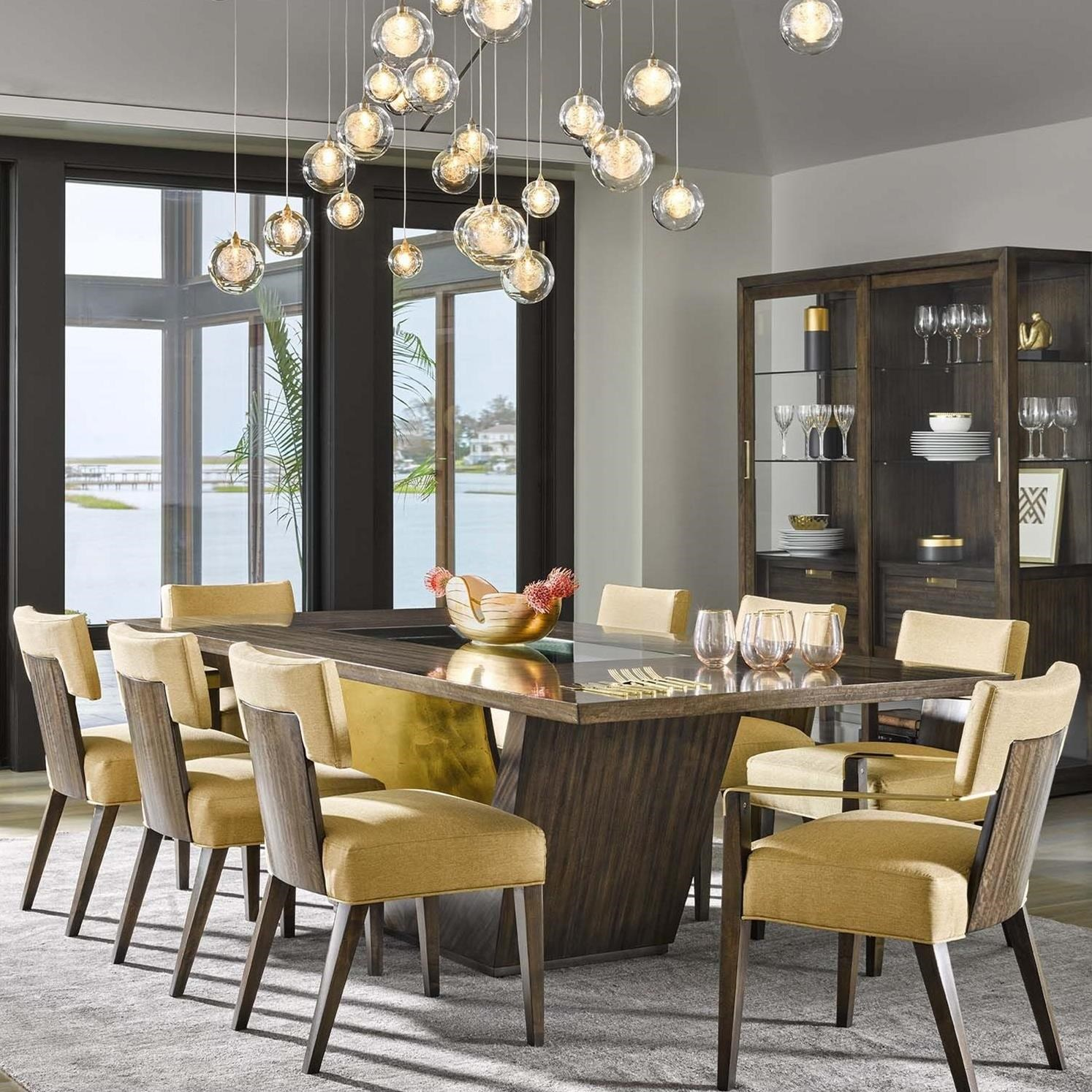 Nine Piece Table and Chair Set