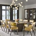 Belfort Signature Avant Nine Piece Table and Chair Set - Item Number: 1780-814+2x821+6x820