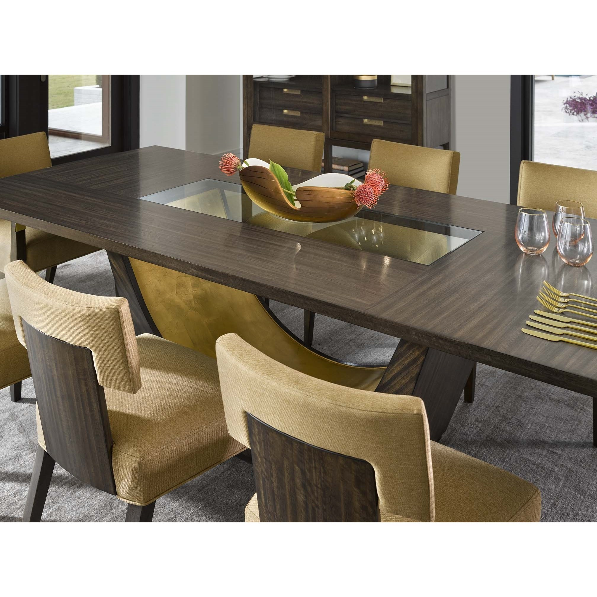 "Fine Furniture Design Runaway Tegola 84"" Dining Table With"