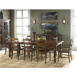 Fine Furniture Design Summer Home 9 Piece Table and Chair Set