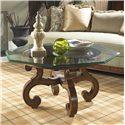 Fine Furniture Design Summer Home Glass Top Cocktail Table - Item Number: 1050-920