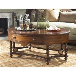Fine Furniture Design Summer Home Oval Cocktail Table