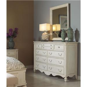 Michael Harrison Collection Summer Home Dresser and Mirror Combo