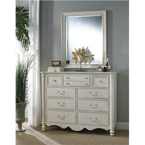 Fine Furniture Design Summer Home Master Chest and Mirror Combo
