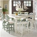 Fine Furniture Design Summer Home 9 Piece Set - Item Number: 1051-814+4x928+4x1053-927