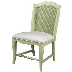 Fine Furniture Design Summer Home Wicker Back Side Chair
