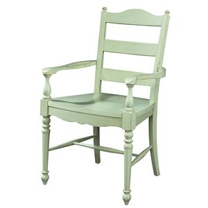 Fine Furniture Design Summer Home Ladderback Arm Chair