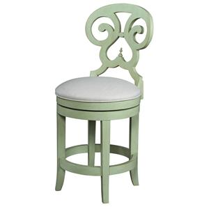 Fine Furniture Design Summer Home Swivel Counter Stool
