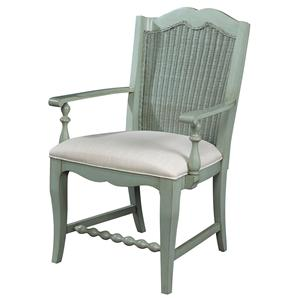 Michael Harrison Collection Summer Home Wicker Back Arm Chair