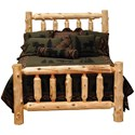 Fireside Lodge 100 Queen Bed - Item Number: 10040