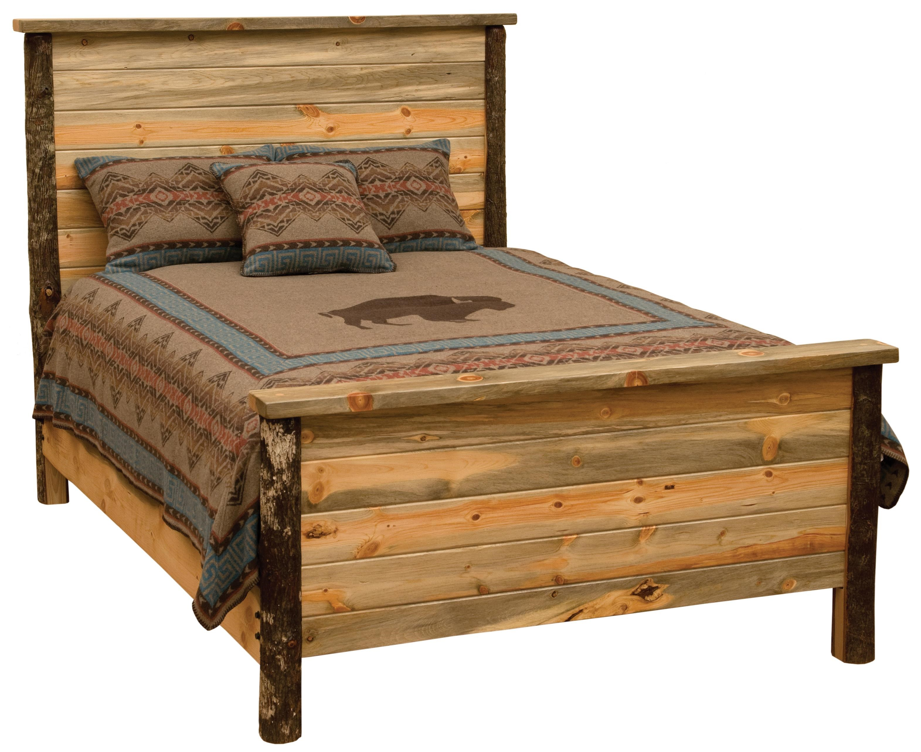 Blue Stain Pine Queen Bed