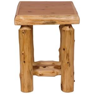 Fireside Lodge Cedar Open Nightstand