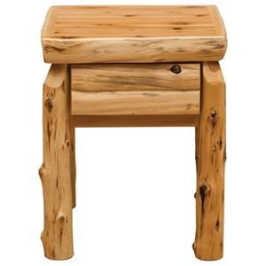 Fireside Lodge Cedar One Drawer Nightstand