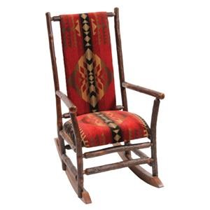 Hickory Log Rocking Chair