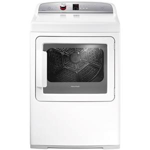 Fisher and Paykel Electric Dryers 7 cu ft AeroCare Front Load Gas Dryer with SmartTouch™ Control Dial