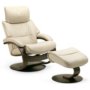 Fjords by Hjellegjerde Grip Large Reclining Chair and Ottoman Set