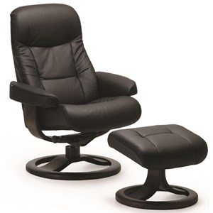 Small Recliner and Ottoman Set