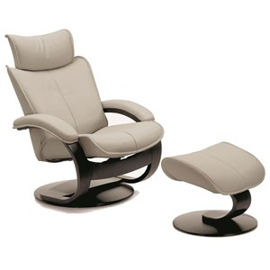 Fjords by Hjellegjerde Ona Large Recliner and Ottoman Set