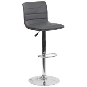 Flash Furniture ADJUSTABLE STOOL GREY ADJUSTABLE STOOL