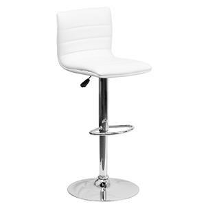 Flash Furniture ADJUSTABLE STOOL WHITE ADJUSTABLE STOOL