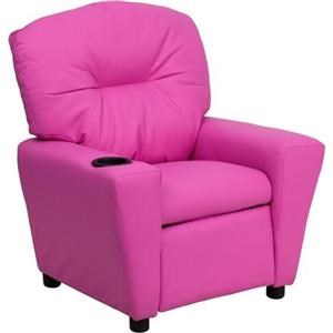High Quality Flash Furniture Kids Recliner With 1 Cup Holder Hot Pink Vinyl Kids Recliner