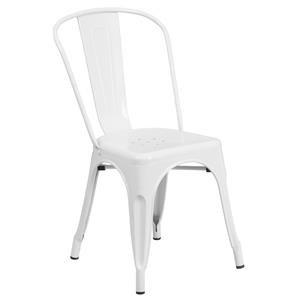 Flash Furniture Metal Chairs White Metal Chair