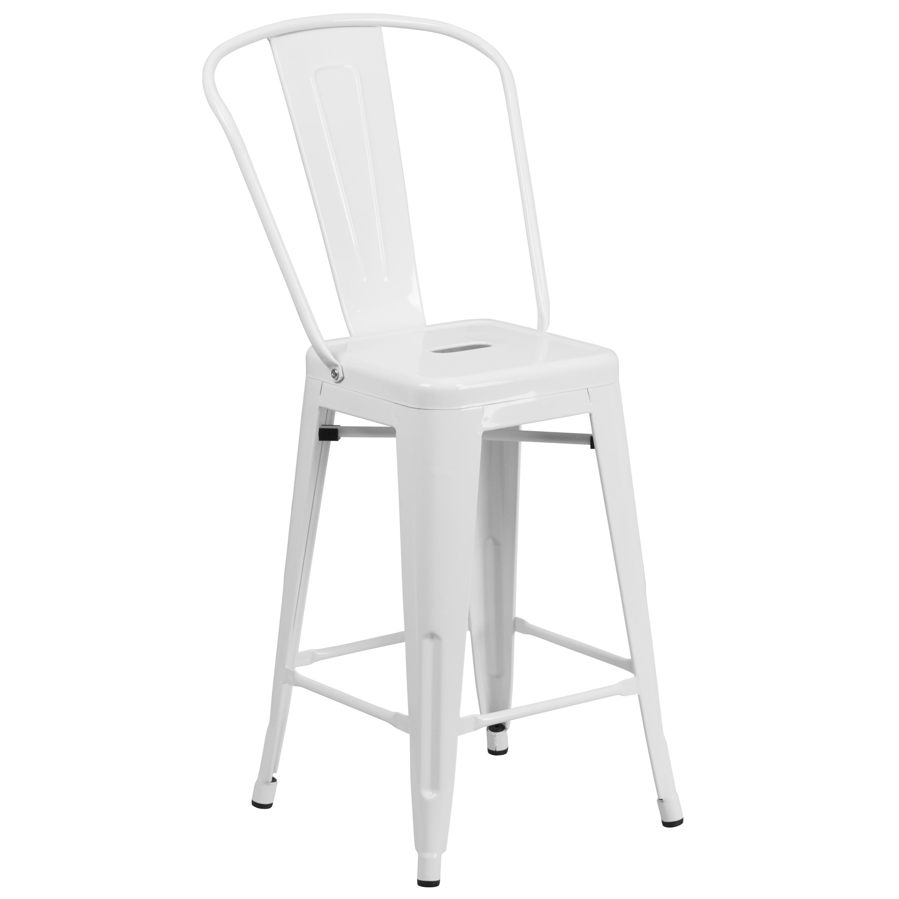 """Flash Furniture Metal Stool Back 24"""" WHITE STOOL BACK - Item Number: CH-31320-24GB-WH-GG"""