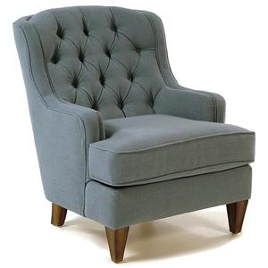Flexsteel Accents Button-Tufted Accent Chair