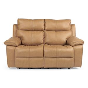 Flexsteel Butterscotch Power Reclining Loveseat