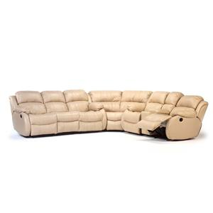 Flexsteel Latitudes - Brandon Leather Upholstered Sectional
