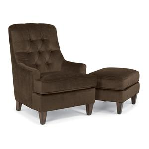 Flexsteel Accents Beckett Chair and Ottoman Set