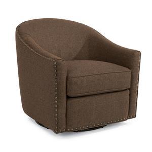 Flexsteel Accents Fairchild Swivel Chair With Nailhead