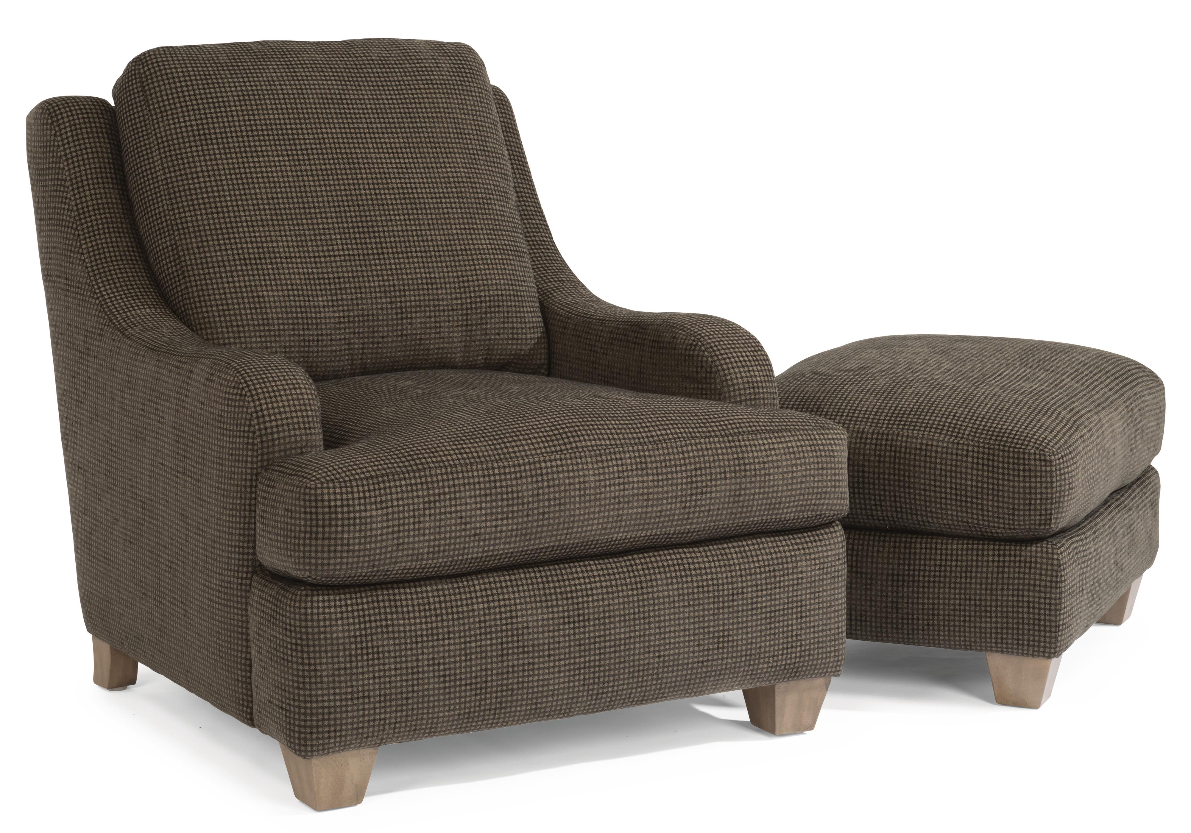 Flexsteel Accents Salem Chair & Ottoman Set - Item Number: 0111-10+0111-08-958-02